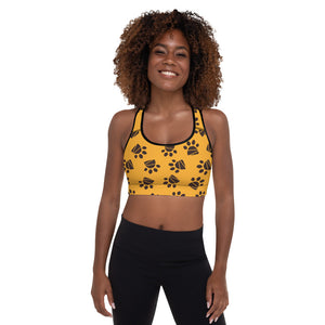 Circle of Life - Paws Print 2 - Padded Sports Bra