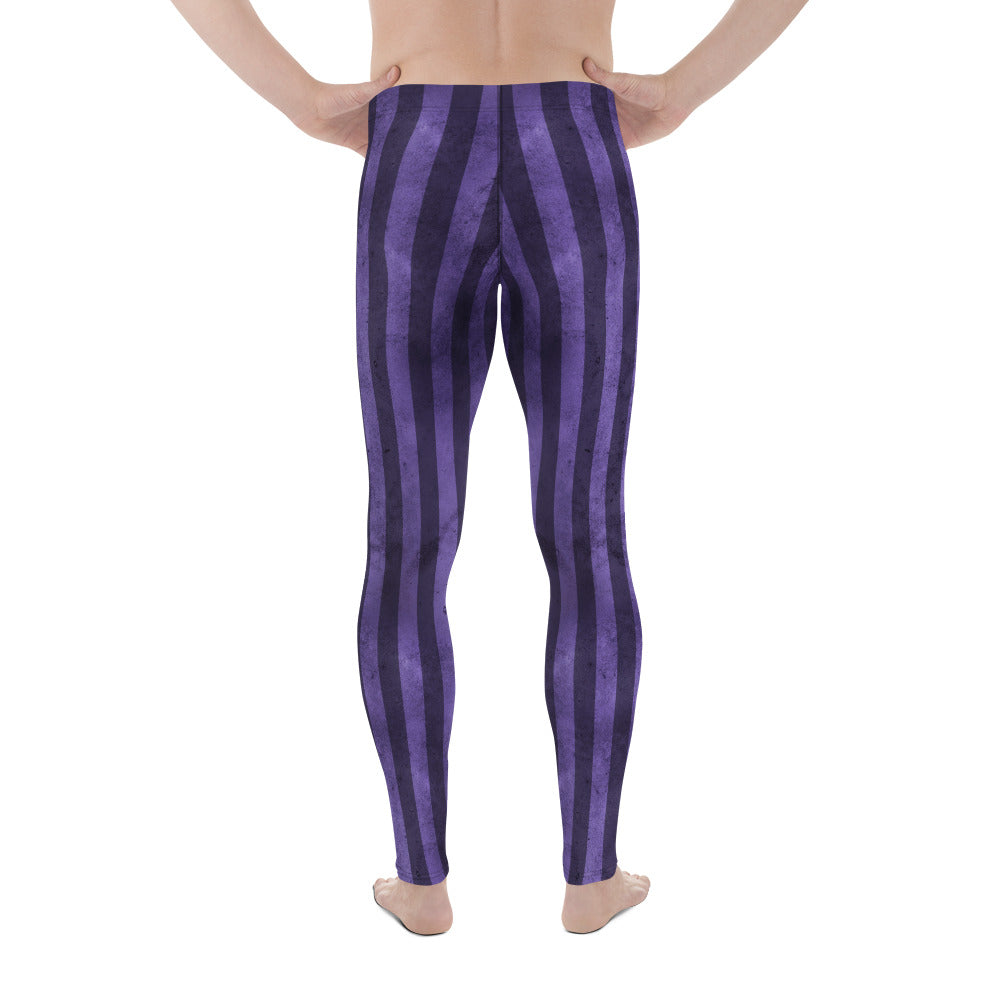 Burtonesque Circus - Purple Joker Stripes - Men's Leggings