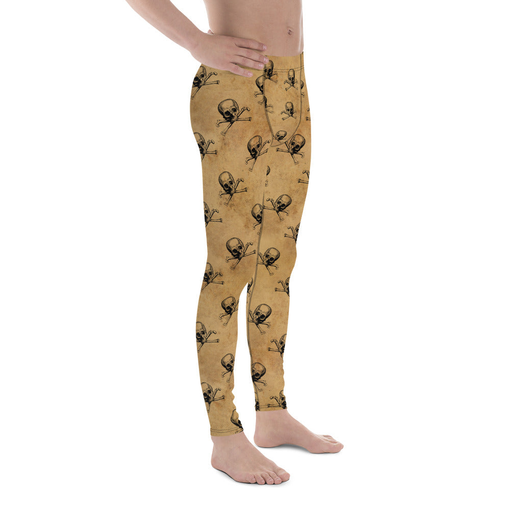 Halloween Costume - Skull and crossbones pirate - Men's Leggings