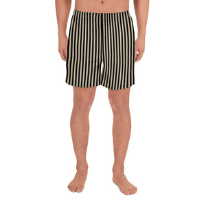 Burtonesque Circus - Black and distressed White - Men's Athletic Long Shorts