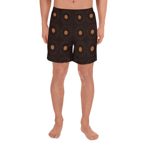 Circle of Life - Flowers Print - Men's Athletic Long Shorts
