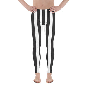 Burtonesque Circus - Black & White Stripes - Men's Leggings