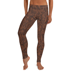 Circle of Life - Brown Fur Print - Female Leggings