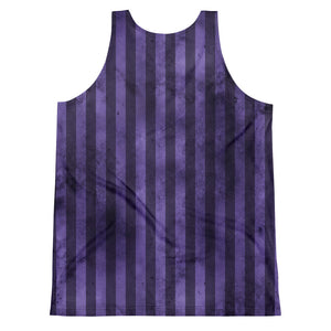 Burtonesque Circus - Purple Joker stripes - unisex tank