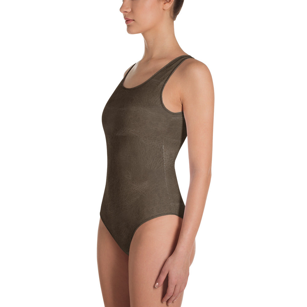 Thrones - Mid Brown leather - Bodysuit