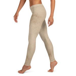 Halloween Costume - Distressed White fabric print - Female Leggings