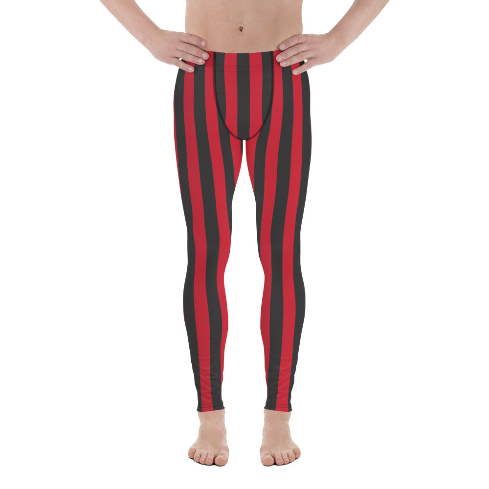 Burtonesque Circus - Red & Black striped - Men's Leggings