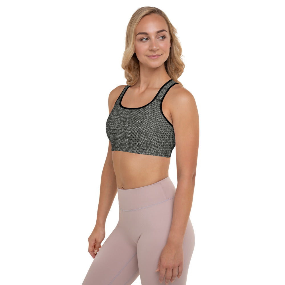 Thrones - Knight - Chainmail print - Padded Sports Bra