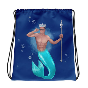 The King of Crowns - Christmas Drawstring bag (Printed on both sides)