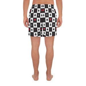 Burtonesque Wonderland - Playing card - Men's Athletic Long Shorts