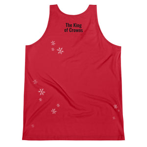 The King of Crowns - Christmas Red - Unisex Tank Top (Premium)