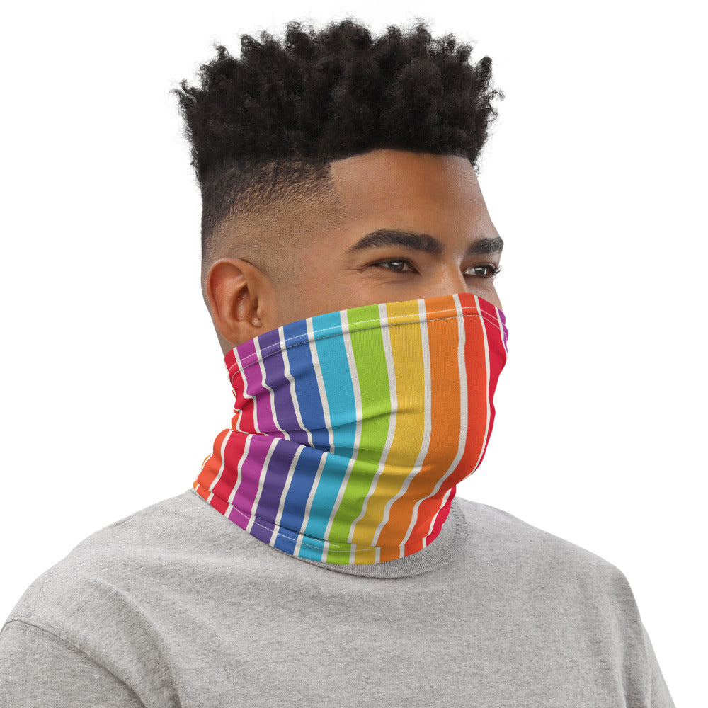 Rainbow Pride Neck Gaiter - Rainbow Stripes