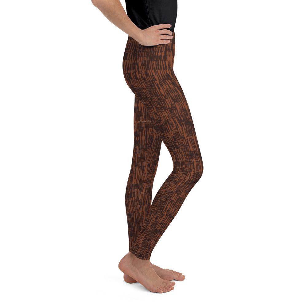 Circle of Life - Brown Fur Print - Youth Leggings
