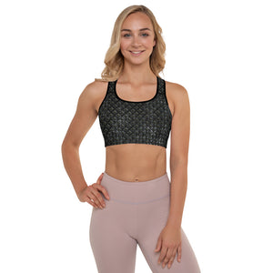 Thrones - Raven - Chainmail print - Padded Sports Bra
