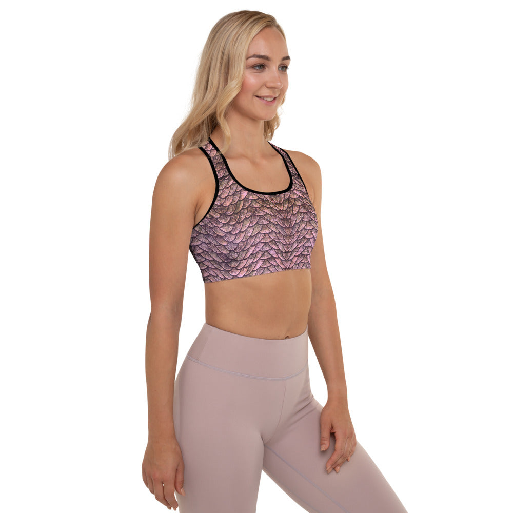 Thrones - Rose Dragon - Padded Sports Bra
