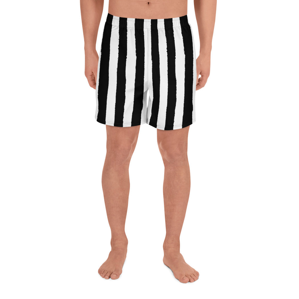 Burtonesque - Beetle Stripes - Men's Athletic Long Shorts
