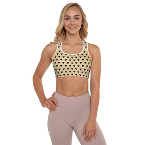 Burtonesque - Wonderland - Black hearts - Padded Sports Bra