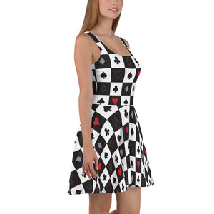 Tim Burton Alice in wonderland costume queen of hearts playing cards
