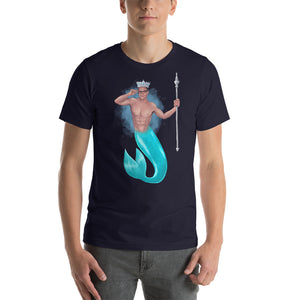 The King of Crowns - (Dark colours with Blue splash back) Short-Sleeve Unisex T-Shirt