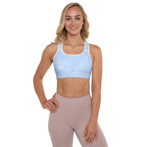 Thrones - Blue leather print - Padded Sports Bra
