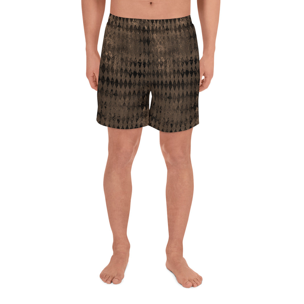 Burtonesque Circus - Decaying Harlequin - Men's Athletic Long Shorts