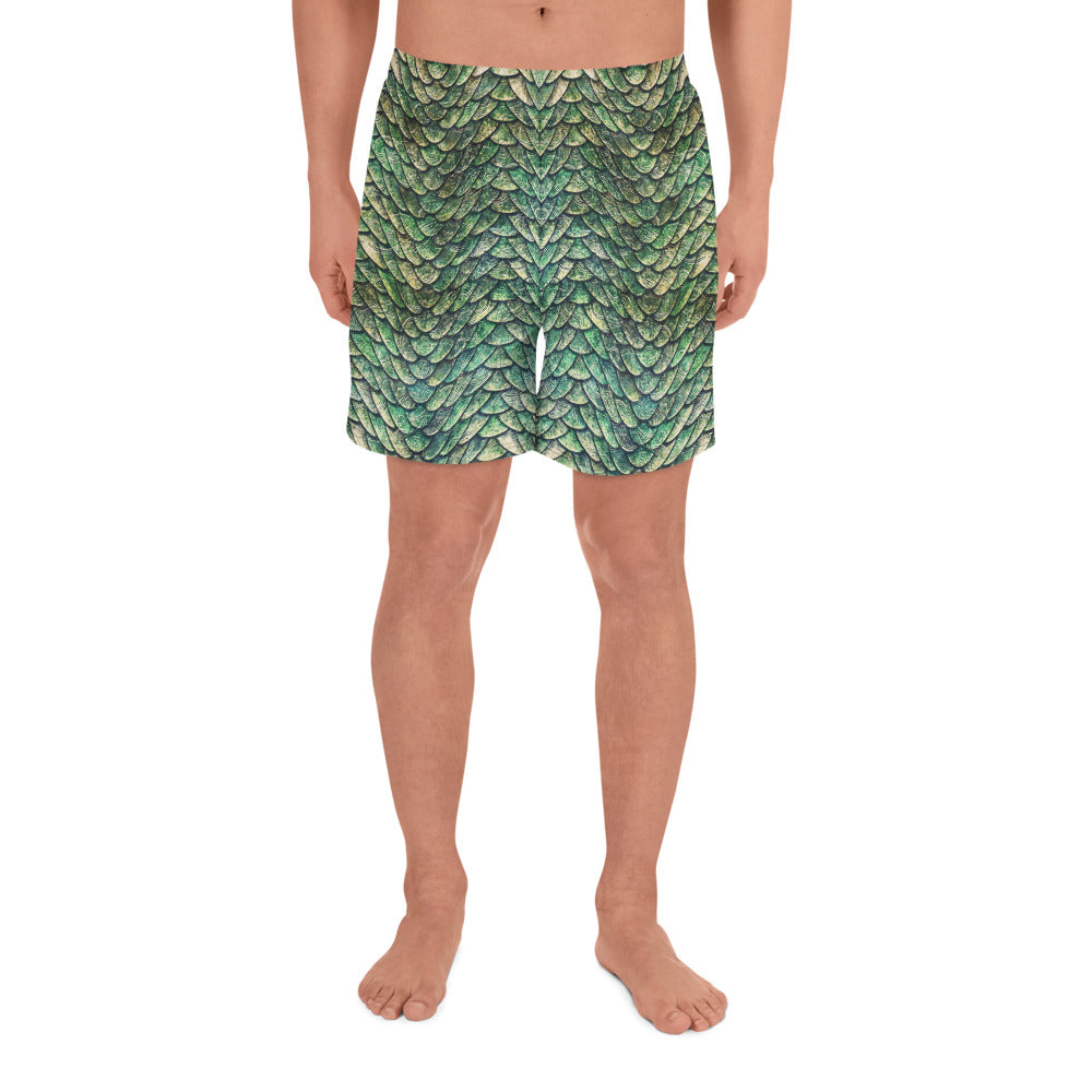 Thrones - Green Dragon - Men's Athletic Long Shorts