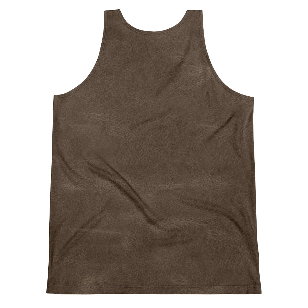 Thrones - Mid brown leather print - Unisex Tank Top