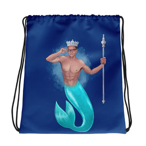 The King of Crowns - Blue Drawstring bag (Printed on both sides)