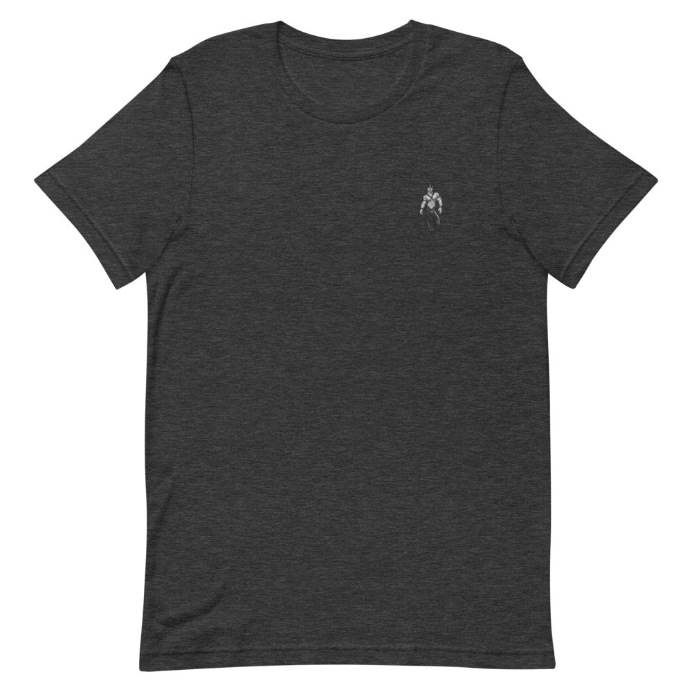 Discreet Black & White Leather Daddy - Short-Sleeve Unisex T-Shirt