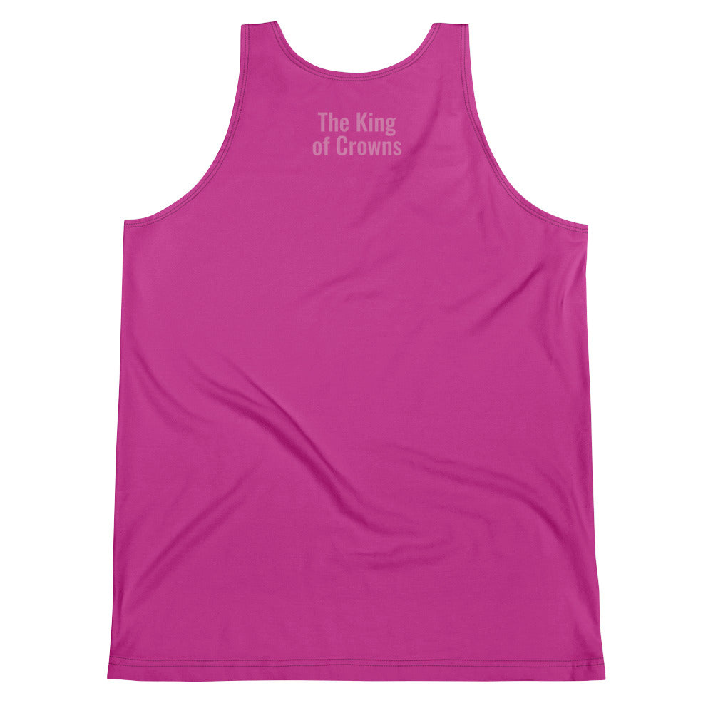 The King of Crowns - Hot Pink Unisex Tank Top (Premium)