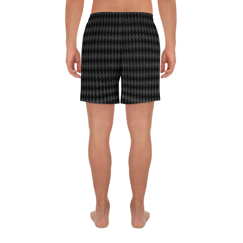 Burtonesque Circus - Black Harlequin - Men's Athletic Long Shorts