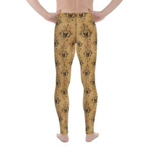 Halloween Costume - Skulls on vintage - Men's Leggings