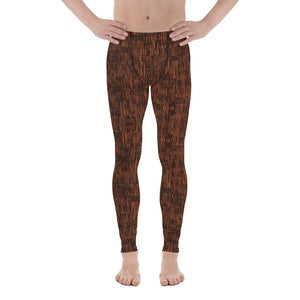 Circle of Life - Brown Fur Print - Men's Leggings