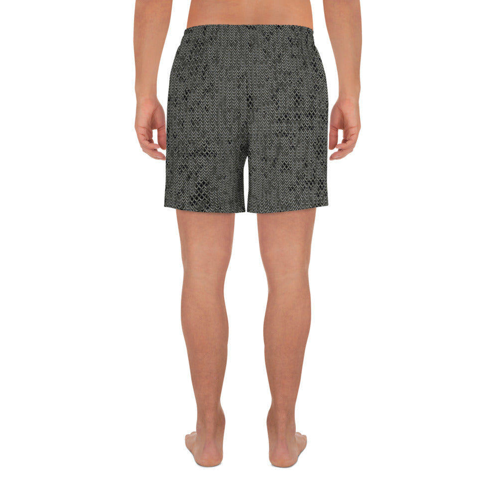 Thrones - Battle - Chainmail print  - Men's Athletic Long Shorts