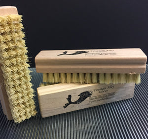 USA Made Natural Wood Tampico Nail Brush