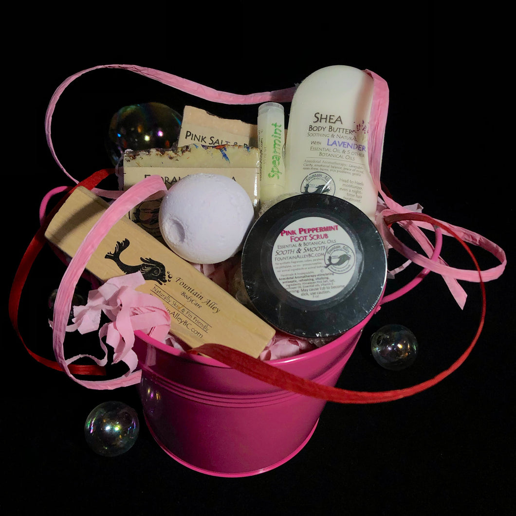Pink Ribbon Gift bucket