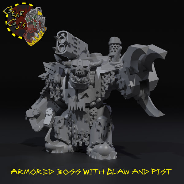 Armored Boss with Claw and Fist