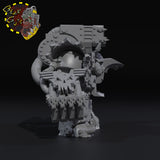 Armored Boss with Claw and Fist - STL Download