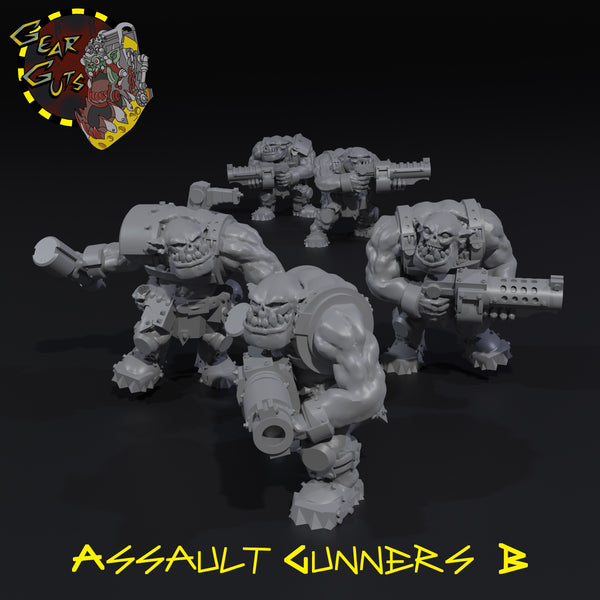 Assault Gunners x5 - B - STL Download