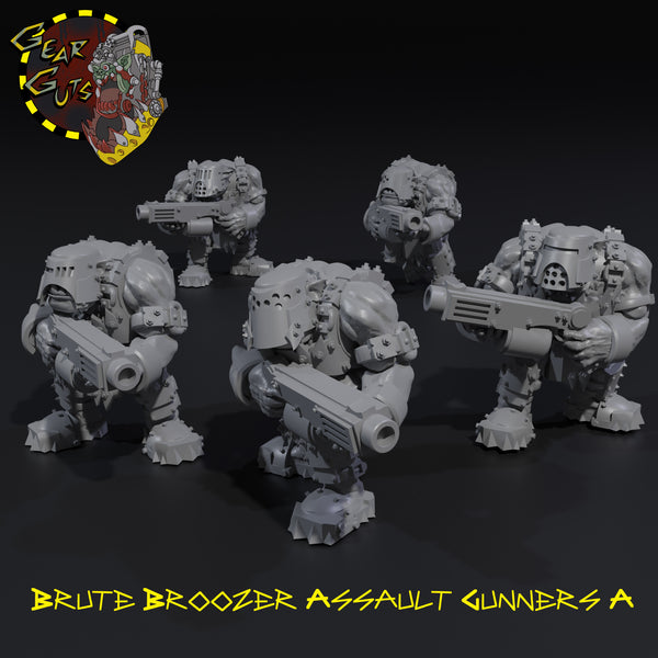 Brute Broozer Assault Gunners x5 - A - STL Download