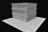Gothic Ruin & Wall Modular Terrain Set-STL Download