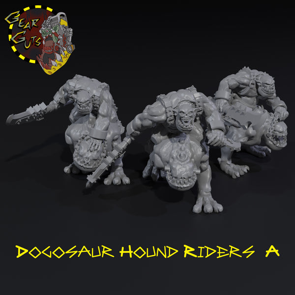 Dogosaur Hound Riders x3 - A - STL Download