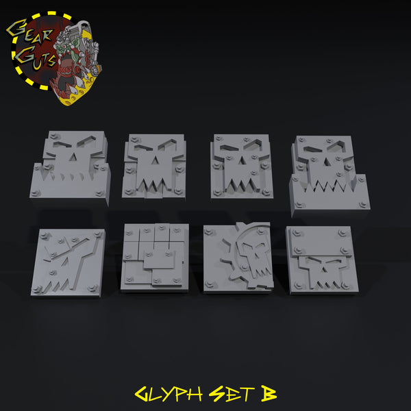 Glyph Bits - B - STL Download