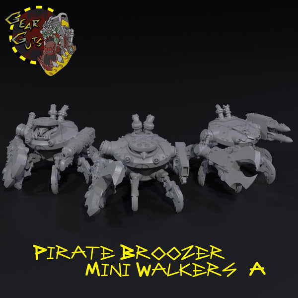 Pirate Broozer Mini Walkers x3 - A