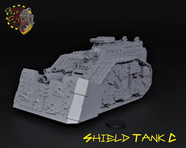 Shield Wall Tank - C - STL Download