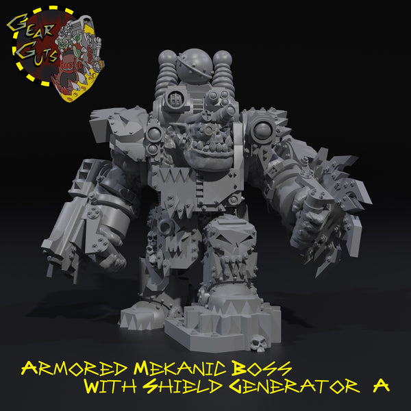 Armored Mekanic Boss with Shield Generator - A