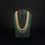 long uncut kundan haar with green beads pakistan jewellery birmingham scotland london