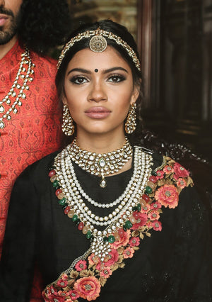 kundan choker set with zirconia diamonds, pakistan jewellery edinburgh london vancouver