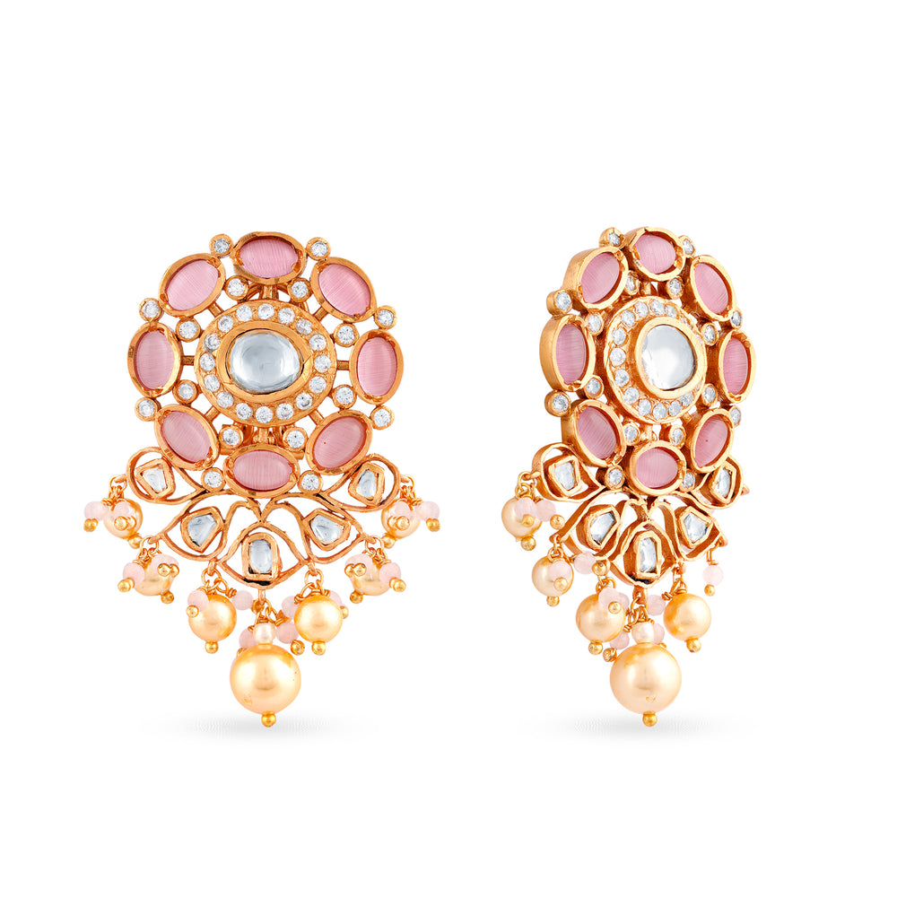 Ada Kundan stud earrings