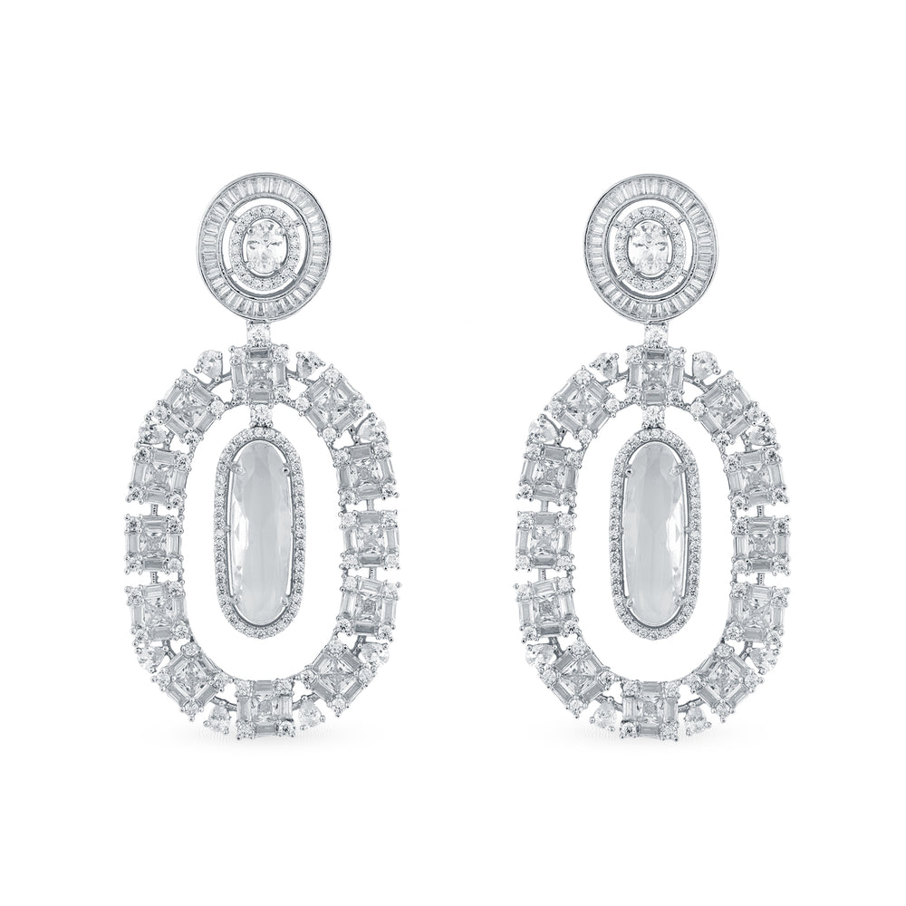 Cubic zirconia earrings.